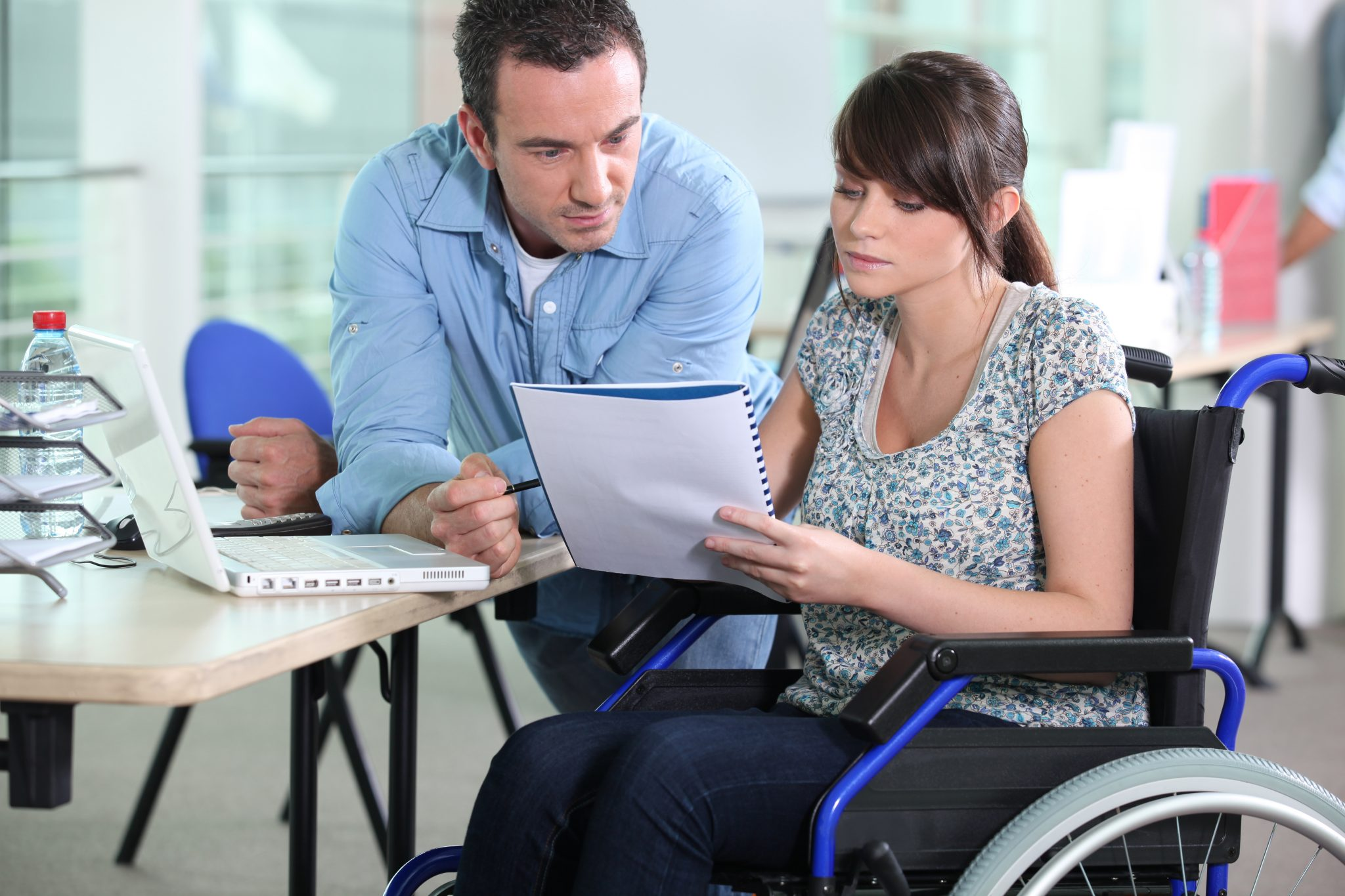 Spouses deciding on what accessibility services are right for them
